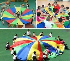 Kids Play Rainbow Parachute 3m/4m/5m/6m outdoor Game  Sport activity for all age