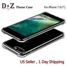 "NEW For iPhone 7 4.7"" Case Crystal Clear Cover Shock proof Rubber Protective TPU"