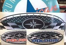 durable vinyl POLARIS CHECKED FLAG decals  STICKERS - 2 GREAT COLORS - 7 COMBOS