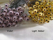 6 PAIR 8mm or 9mm German Glass Eyes on Wire Fish lure, primitive, decoy  GLE-1