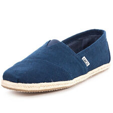 Toms Classic Rope Mens Slip On Navy New Shoes