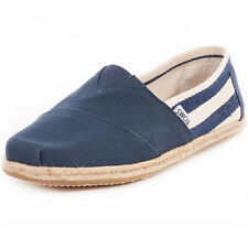 Toms Classic Stripe University Mens Slip On Navy New Shoes
