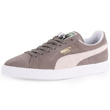 Puma Suede Classic Mens Trainers Grey White New Shoes