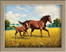 Poster,Oil Painting HD Canvas Print/Modern Art Decorative horse