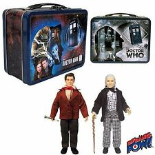 DOCTOR WHO 50TH ANNIVERSARY GIFT SET TIN TOTE W/FIRST & ELEVENTH DOCTOR FIGURES