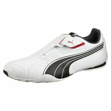 NEW* PUMA REDON MOVE LEATHER CASUAL MEN'S SHOES WHITE BLACK RIBBON RED 185999 01