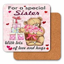 SISTER GIFTS, Drink Coaster, Birthday Gift For Sister, Friend or Auntie Gifts
