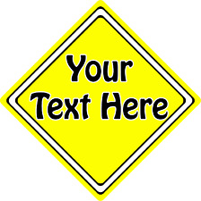 Create Your Own Car Sign ~ Any Colour / Any Text ~ It's That Easy!!