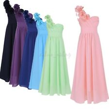 Pageant Chiffon Dress Flower Girl Princess Wedding Bridesmaid Party Prom Dress
