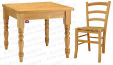 WAXED PINE DINING SET | PINE DINING SET | WAXED PINE SQUARE TABLE & FOUR CHAIRS