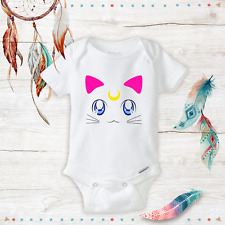 Baby Sailor Moon Onesie Cat - Newborn Baby Girl Clothes - Geeky Onesies - Anime