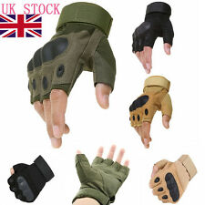 Mens Paintball Tactical Gloves Hunting Cycling Fingerless Gloves Motor Outdoor