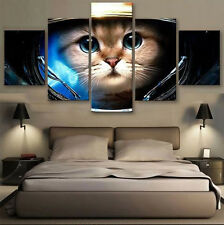 Animal Lovely Cat Picture Canvas Painting Abstract Wall Modern Art Home Decor