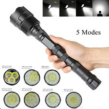 Tactical Police 40000Lumens CREE XML T6 LED 5Modes Flashlight Torch Super Bright