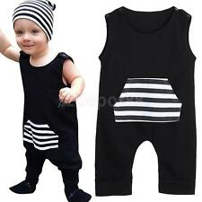 Toddler Newborn Baby Boys Clothes Sleeveless Striped Romper Jumpsuit Playsuit