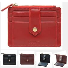 Sheside Womens PU Leahter Wallet Slim Credit Card Holder Case Zipper Purse Bags