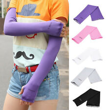 UV Sunscreen Half Finger Long Gloves Cuff Outdoor Arm Sleeve Sun Hand Protection