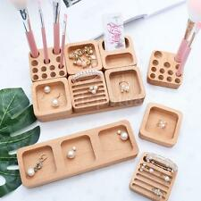 Unfinished Wooden Wood Necklace Jewelry Storage Box Showcase Collection Box Gift