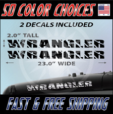 "2 - 23"" Wrangler Decal set Jeep stickers hood fender graphic Jeep Decals - 011"
