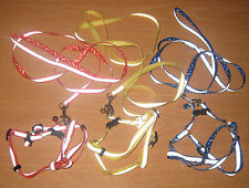 NEW Reflective Adjustable Nylon Harness Bell & Lead Set Cat Rabbit Dog GuineaPig