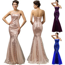 Formal Long Dress Mermaid Wedding Bridesmaid Dress Prom Party Evening Ball Gown