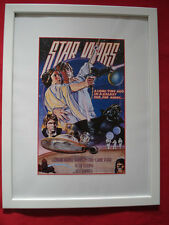 STAR WARS Retro Poster Print =A New Hope= A4 Print or A4 Framed~ GREAT XMAS GIFT