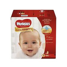 Huggies Diapers Size 2 Little Snugglers 186 Count One Month Supply NEW