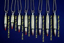 """Bullet Necklace Pendant Charm w/ 30"""" Ball Chain 223, 24, 25, 7, 308, 357, 40, 45"""
