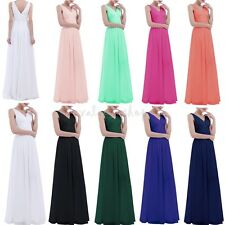 Women Chiffon Long Boho Prom Bridesmaid Evening Party Ball Cocktail Maxi Dress