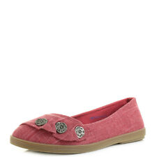 Womens Blowfish Garden Red Cozumel Linen Flat Ballet Pump Shoes Shu Size