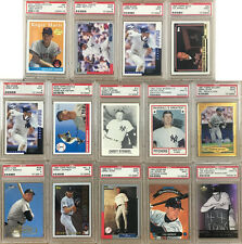 14 Card Lot Baseball Cards All Graded PSA Mint 9 From 1977 to 2006 Jeter Mantle