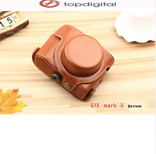 Leather Bag Case Canon Powershot G1X G1X II G1XII G1 X M2 G1X Cover Strap
