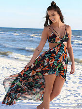 Summer Women Chiffon Floral Boho Bohemian Long Maxi Dress Beach Dresses Sundress