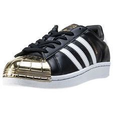adidas Superstar Metal Toe Womens Trainers Black Gold New Shoes