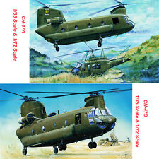 Trumpeter 05104 05105 01621 01622 1/35 1/72 CH-47A/CH-47D Chinook Helicopter Mod