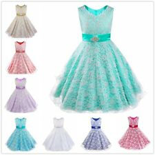 Kids Graduation Flower Girl Tutu Princess Pageant Wedding Bridesmaid Party Dress