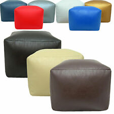 Faux Leather Large Square Pouffe Seat Footstool Bean filled foot stool rest