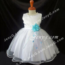 NLSB7 Baby Infants Graduation Holiday Birthday Party Formal Pageant Dress Gown
