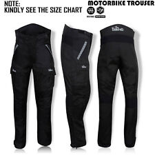 Mens Motorcycle Trouser Cordura Waterproof Textile Motorbike Pants Black