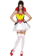 SEXY QUEEN OF HEARTS ALICE IN WONDERLAND STORY BOOK LADIES FANCY DRESS COSTUME