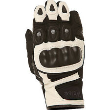 Weise Aztec Black / White Motorcycle Armoured Short Leather Gloves All Sizes