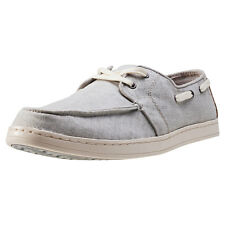 Toms Culver Coated Linen Mens Boat Shoes Light Grey New Shoes