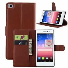 For Huawei Ascend P8 Flip Magnetic Card Wallet PU Leather Case Stand Cover Skin