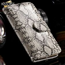 KISSCASE Snake Skin Leather Case for iPhone 5 5S SE Luxury Stand Wallet Card Slo