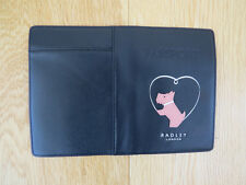 Radley Love Heart Leather Passport Cover in Black *LAST ONE* RRP £35