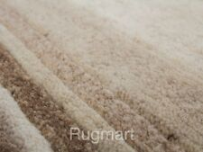 PREMIUM QUALITY Hand Knotted Plain Modern LIGHT BEIGE NATURAL Thick Wool Rugs
