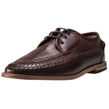 Hudson London Anfa Calf Woven Detail Mens Shoes Cognac New Shoes