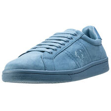 Fred Perry B721 Brushed Cotton Unisex Trainers Pastel Blue New Shoes