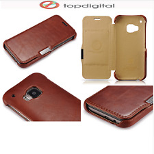icarer HTC One M9 Genuine Leather Wallet Case Magnetic Flip Cover Folio