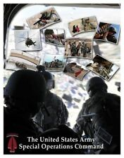U.S. Army USASOC Special Forces Unconventional Warfare Poster